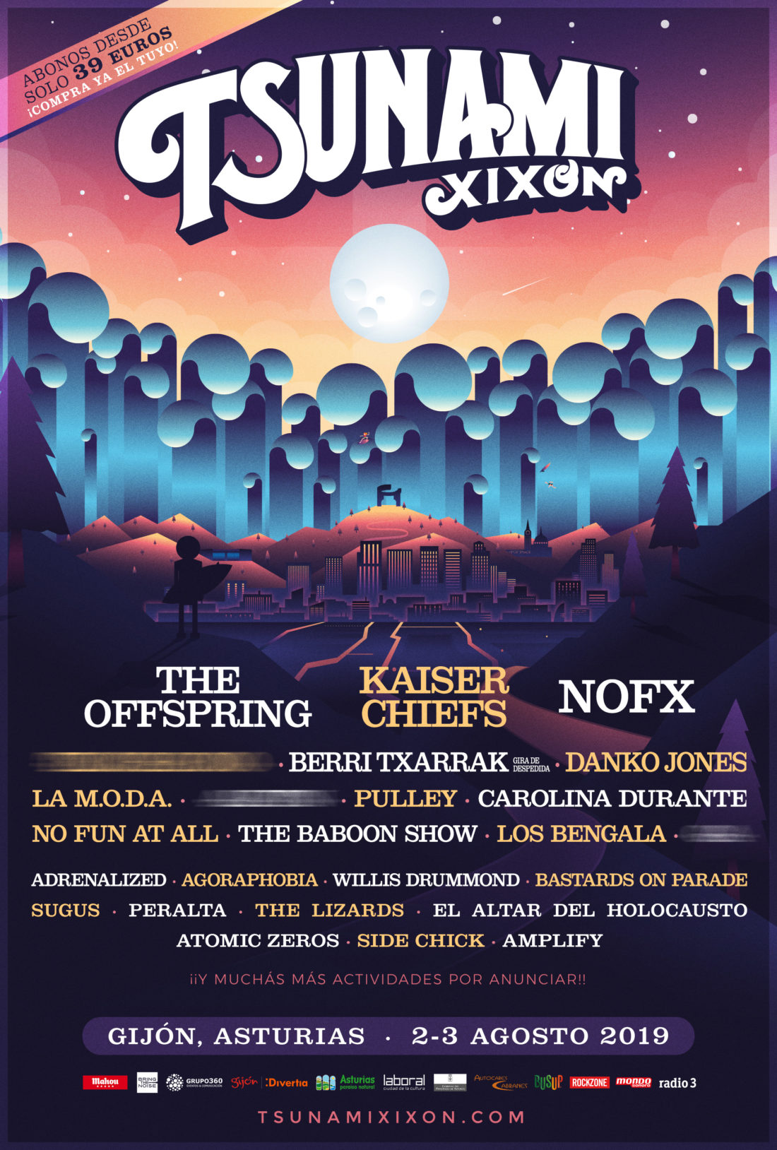Tsunami Xixón 2019: NOFX, The Offspring, Berri Txarrak, Danko Jones...  - Página 4 Tsunami-Xixon-2019-Official-Poster-1100x1628
